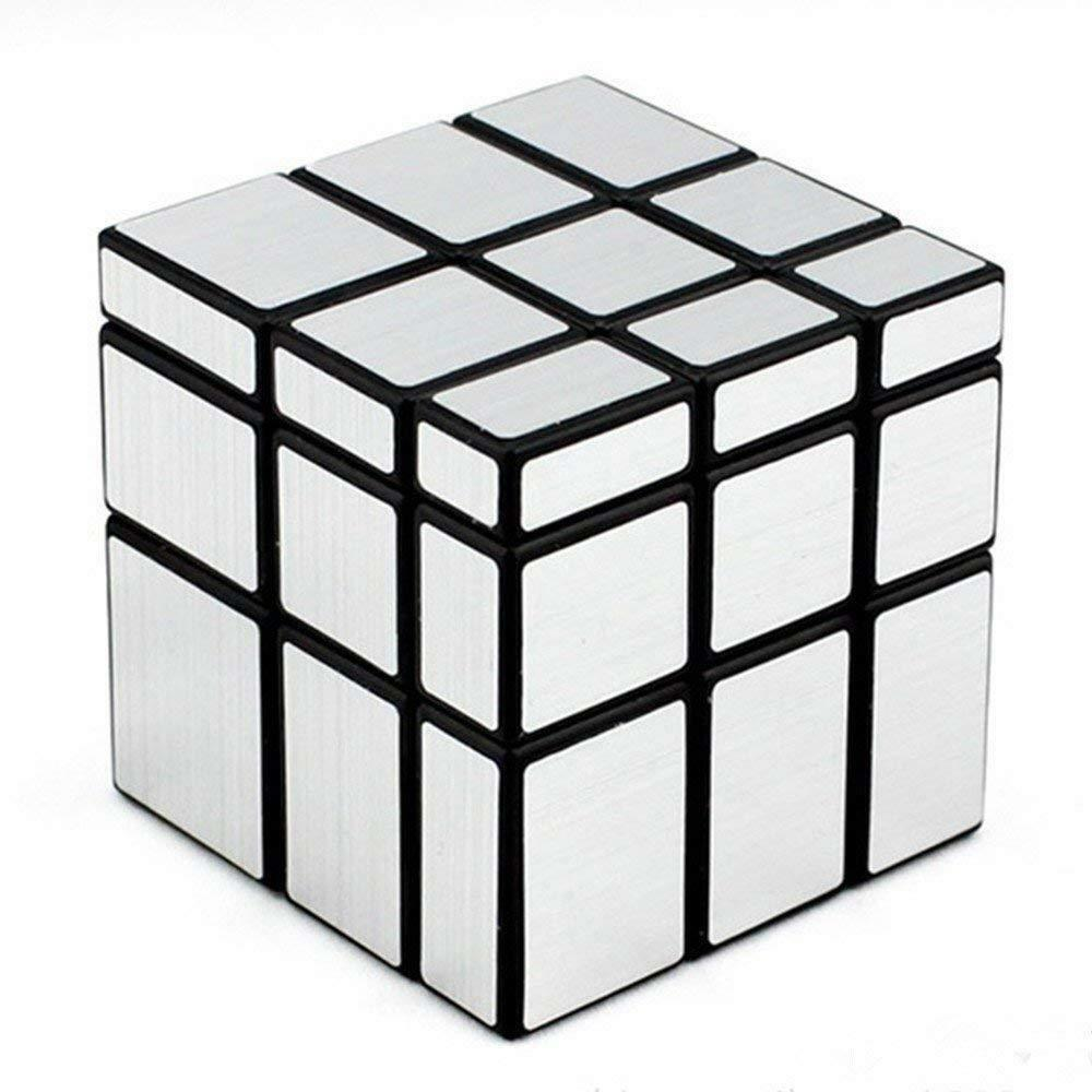 Toys & Hobbies Puzzles & Games Industrious Shengshou Mirror Magic Cube 3x3 Speed Cube Unequal Puzzle Twist Silver Black 57mm Cast Coated Pack With Color Box 1pcs Safe Abs