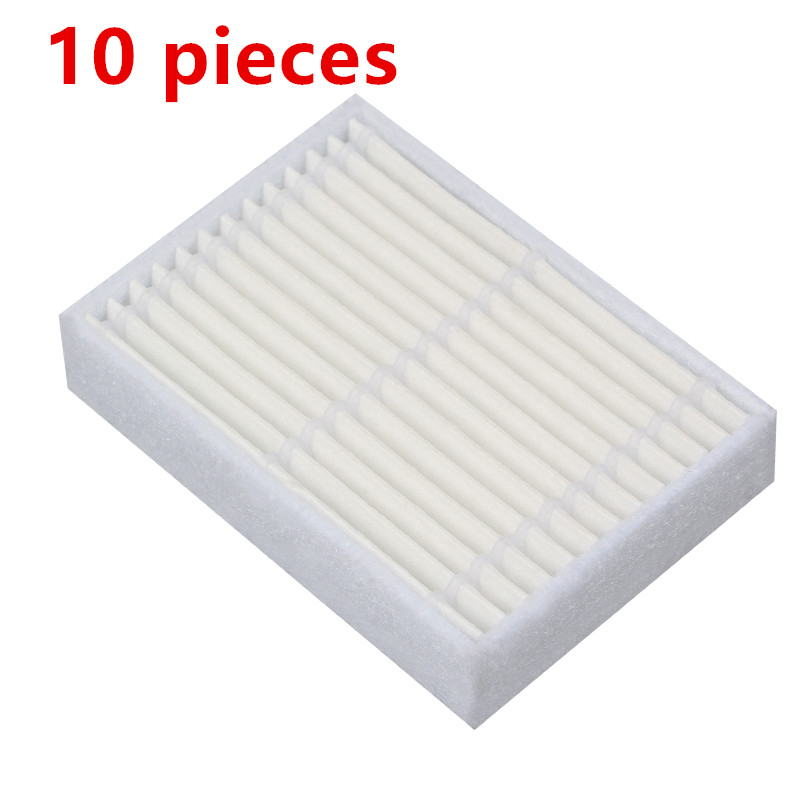 10 Pieces/lot Robotic Vacuum Cleaner HEPA Filter For Midea Mvcr03 VCR15 VCR16 Robot Vacuum Cleaner Parts Accessories