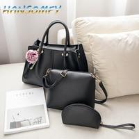 Women Handbags 2019 New Quality upgrade Buy One Get 3 PU Leather Fashion Sweet Ladies Shoulder Bags Six Colors bolsa ML 86