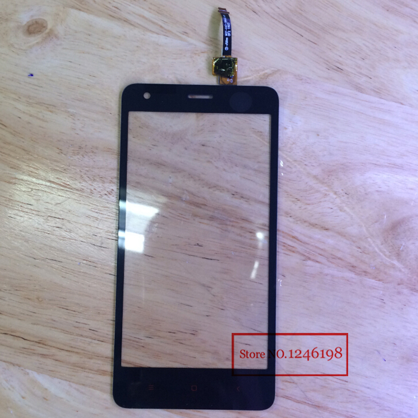 TOP Quality Touch Screen Digitizer For XiaoMi Redmi 2 Hongmi2 RedRice 2 Glass Front Panel Lens Replacement Parts Free shipping