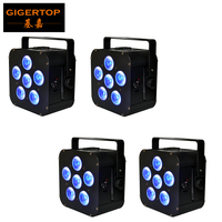 TIPTOP 4pcs/lot 6x18W 6IN1 RGBAW UV Waterproof IP20 Battery Powered Wireless DMX512 Wifi LED Par Light 6/10CH