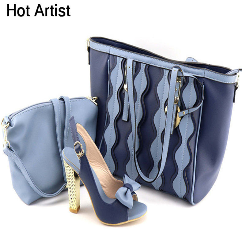 Hot Artist New Come Italian Shoes With Matching Bag Set For Wedding Party Fashion Women Pumps African Shoes And Bags TX-20181 african fashion shoes with matching bag set for wedding party italian design nigeria women pumps shoes and bags mm1060