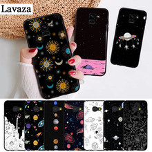 Lavaza space Stars Moon Airship Astronaut Silicone Case for Samsung A3 A5 A6 Plus A7 A8 A9 A10 A30 A40 A50 A70 J6 A10S A30S A50S(China)