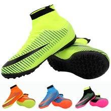 33e893ed Futsal botas de fútbol zapatillas hombres barato fútbol Original con los  deportes para las mujeres y