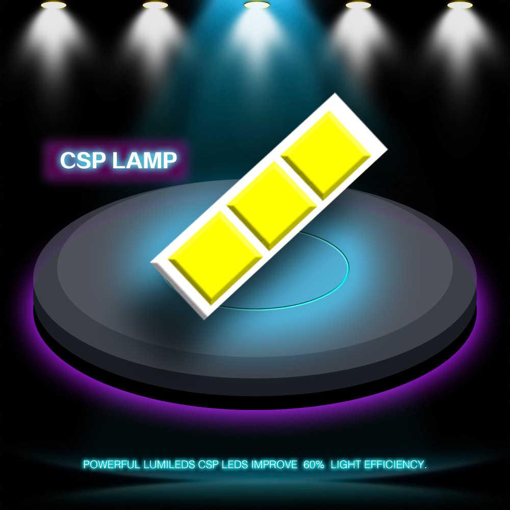 CROSSFOX Car Bulbs LED 9007 9004 H13 H1 H3 H11 9005 HB3 9006 HB4 880 881 H27 H7 H4 LED Headlight Lamp Auto Light CSP  12V 6000K