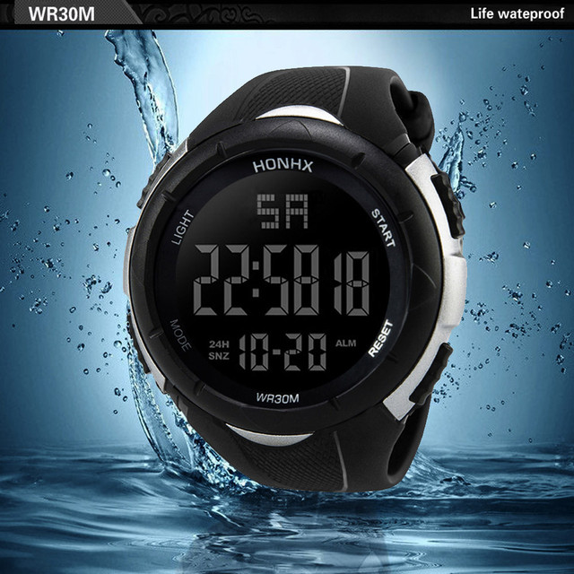 2018 Hot Sale HONHX Digital Watch Men New Fashion Digital Military Army Sport LED Waterproof WristWatch kol saati relogio reloj