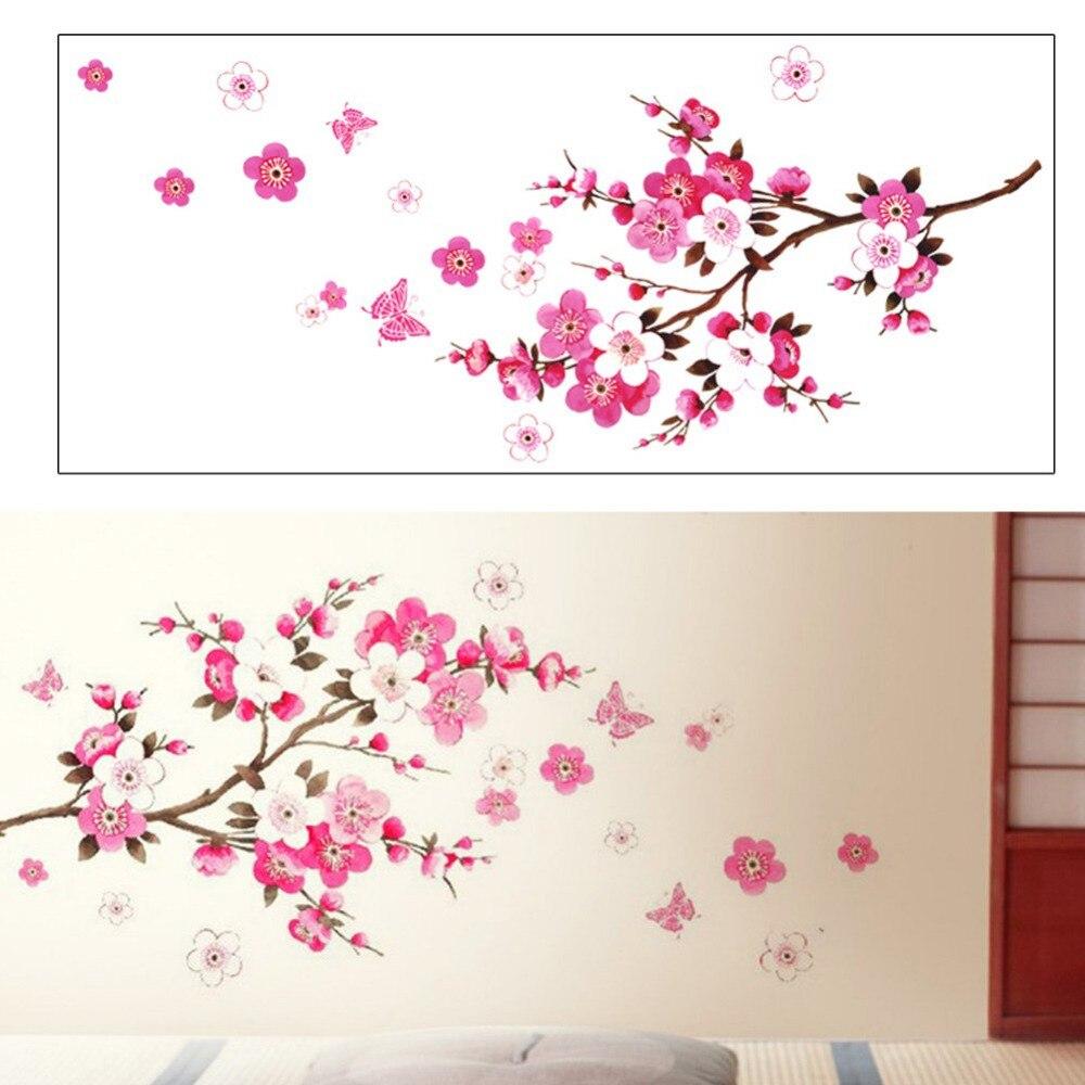 Lukisan Tembok Bunga Sakura Sabalukisan