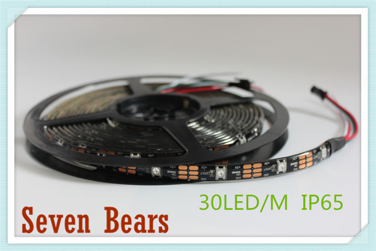 Tiras de Led pcb 30/60/144 leds/m ws2812ic 30/60/144 Modelo Número : Ws2812b Led Strip