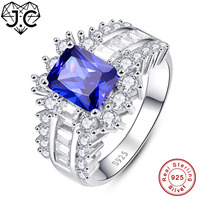 J C 2017 New Ruby Spinel Tanzanite White Topaz Real 925 Sterling Silver Ring Size 6