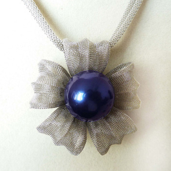 Últimas populares 20mm royalblue moda de lujo shell collar de perlas y colgante estilo AAA Fine Noble real Natural envío gratis # # a