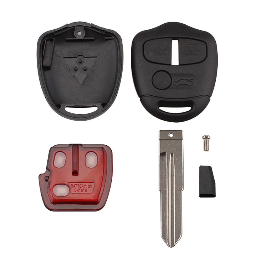 Image 2 - KEYYOU 3 Button 434MHZ ID46 Chip Keyless Remote Control Car Key Fob For Mitsubishi Lancer Outlander Shogun Pajero MIT11 Blade-in Car Key from Automobiles & Motorcycles
