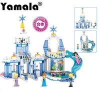 Yamala 344pcs Snow Queen Dream Snow Princess Elsa Ice Castle Princess Anna Girl Building Blocks
