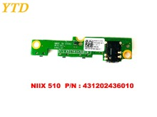 Original for Lenovo MIIX510 power button switch board NIIX 510  PN   431202436010  tested good free shipping