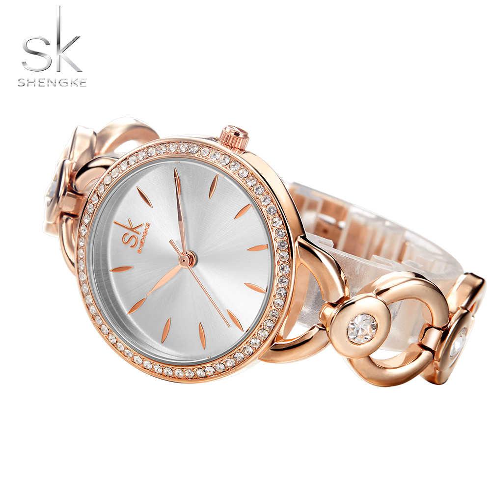 b1b493c98 ... Shengke Luxury Women Watch Famous Brands Gold Fashion Creative Bracelet  Watches Ladies Women Wrist Watches Relogio ...