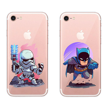 For Apple iPhone 5 5S SE 6 6S 7 8 Plus X Cartoon Personality Colorful  Back Cover Coque Q version hero Fashion Phone case 5 q 8