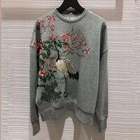 Модные толстовки для женщин с длинным рукавом и круглым вырезом Модные Качественные осенние пуловеры для женщин 2019 Новые Женские однотонны