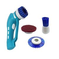Portable Handheld Household Scrub Brush Set Electric Powerful Scrubber Brush for Kitchen Bathroom