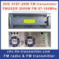 Fmuser ZHC618F 2000 Вт передатчик аудио беспроводной передатчик для профессионального fm радиостанции
