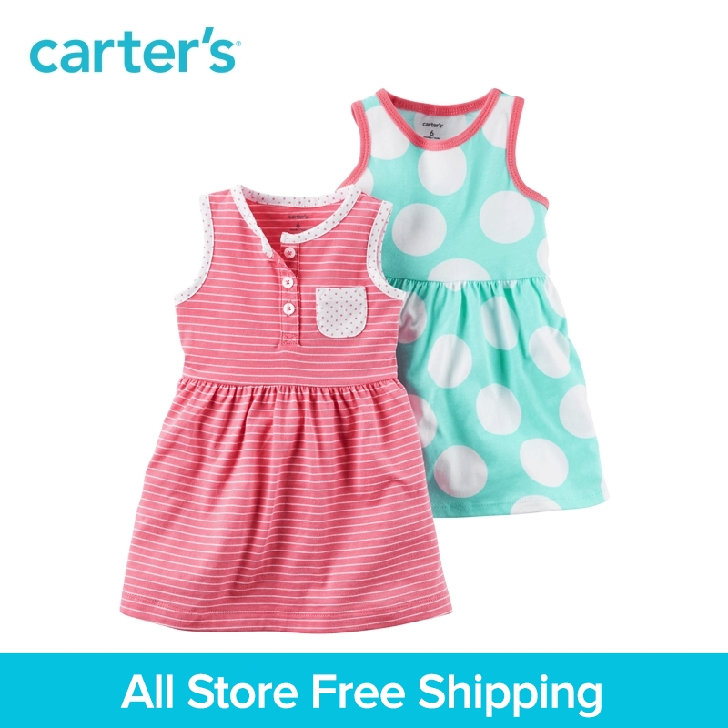 Carter's 2pcs baby children kids Dress Set 121H234,sold by Carter's China official store carter s 1 pcs baby children kids long sleeve embroidered lace tee 253g688 sold by carter s china official store