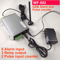 6 input GSM SMS alarm box coin acceptor pulse counter alarm unit 3 relay output for vending machine and game machine