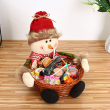 Рождественская корзина для хранения конфет украшение корзина для хранения Санта Клауса подарочная корзина для конфет Cesta de dulces
