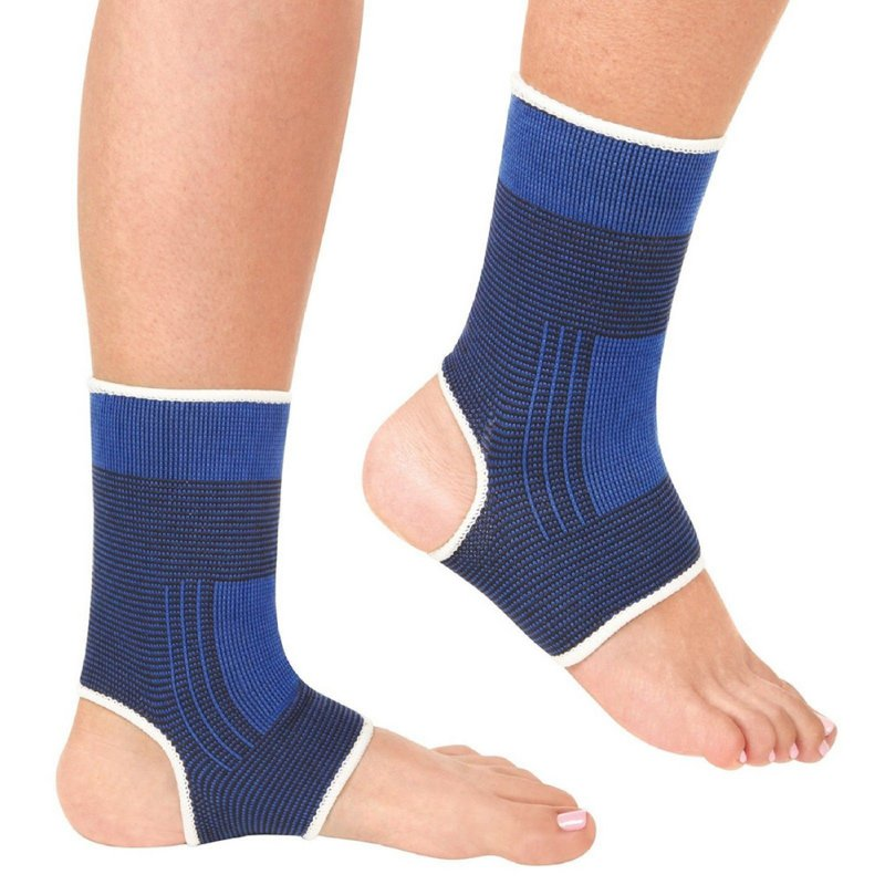 1pair Outdoor Ankle Support Foot Elastic Compression Wrap Sleeve Bandage Brace Support Protection Sports Relief Pain Foot Hot