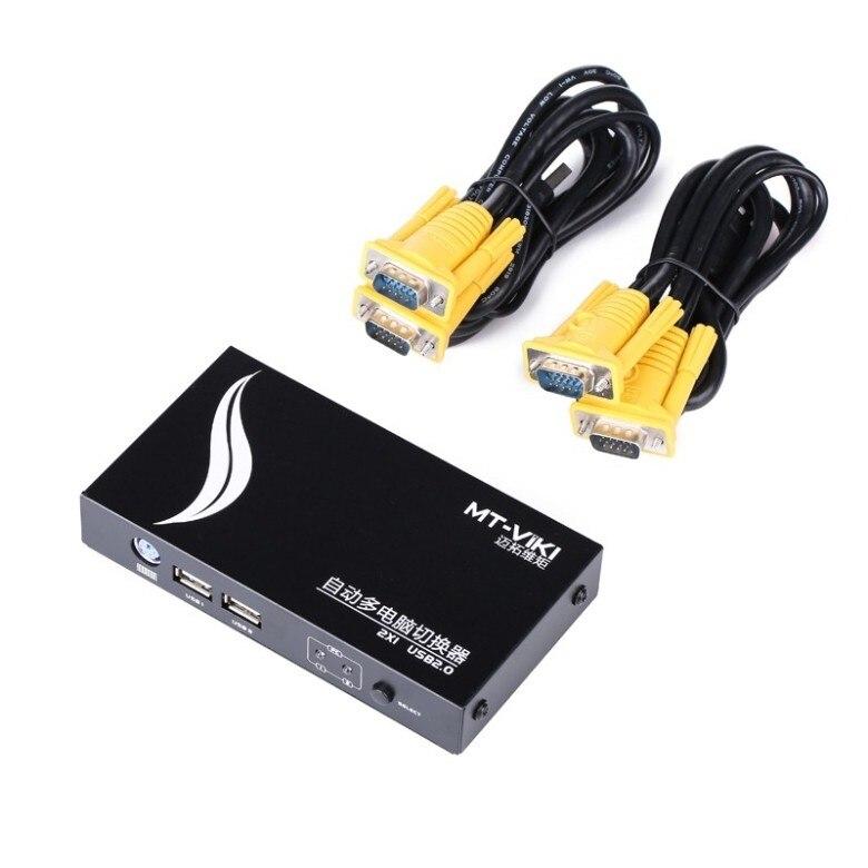 Wide Screen Mit Kabel Freundlich Mt-271uk-l 2 Port Usb Ps/2 Kvm Auto Switcher Taste Oder Hotkey Zu Schalter Pc