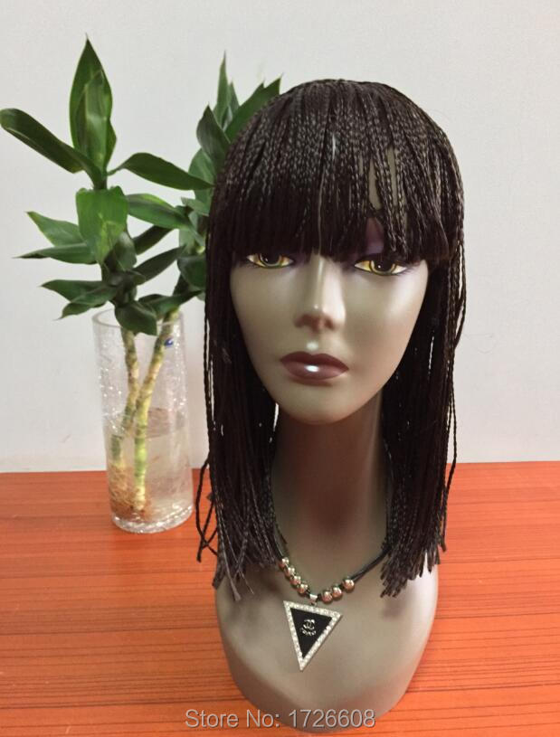 New Synthetic Hair Braided Wig Heat Resistant Micro Braided Wigs Box Braid Wigs African American Braiding