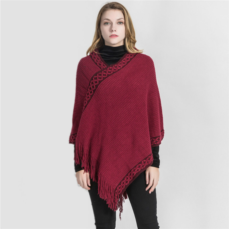New Arrival Winter Warm Cashmere Pashmina Women Scarf Shawl With Tassel Elegant Lady Poncho Capes Tippet Embroidery Scarves Wrap