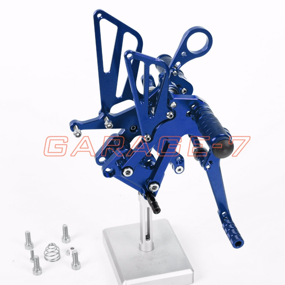 For BMW S1000RR 2010-2011 Rearsets Foot Pegs Rear Set Motorcycle Foot Pegs Hot Sale Motorcycle Blue T6061 Aluminum Alloy CNC