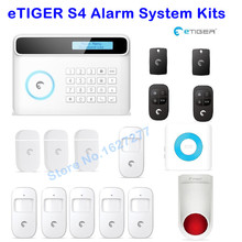 433Mhz Etiger S4 Wireless GSM/PSTN RFID Alarm System Home Security Protection Alarm System