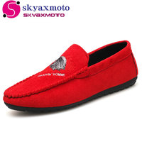 2018 Skyaxmoto Brand Fashion Summer Style Soft Moccasins Men Loafers High Quality Shoes Men Flats Driving