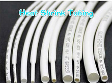 8 meter White Heat Shrink Tube Assorted Cable Wire Wrap Electric Insulation Sleeve cable sleeve heat shrink tubing