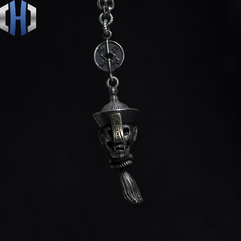 Original Design fait à la main en argent personnalité Zombie pendentif 925 argent Zombie monde paix collier