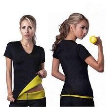 Summer 2017 New arrival Women's Neoprene Casual shirt Bodyshaper Slimming Waist Slim Fitness T-shirt