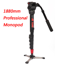 New PROGO JY0506B Professional aluminum Monopod For Video & Camera Tripod Head & Carry Bag JY0506 Upgraded  height 1880mm