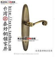Аутентичные тайская латунь заблокировать все медь замок двери медь Американский интерьер дверные ручки замок lm7935acu
