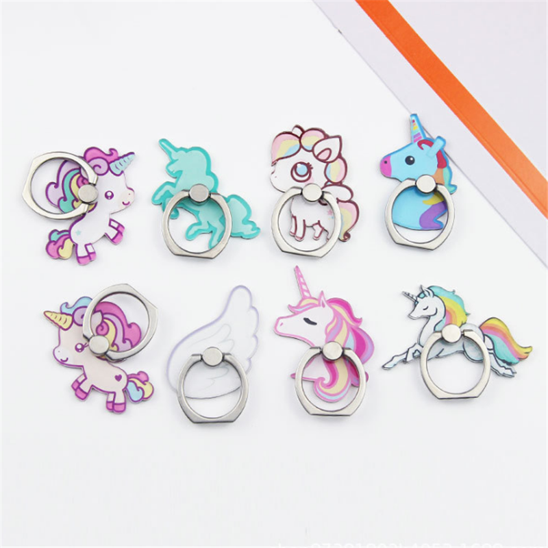 UVR Mobile Phone Stand Holder Unicorn Wing Finger Ring Mobile Smartphone Holder Stand For IPhone Xiaomi Huawei All Phone