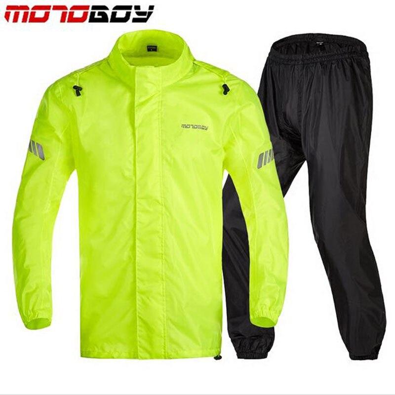 MOTOBOY Motorcycle RAINPROOF Waterproof Raincoats Outdoor Heavy Water Rain Gear Reflective Rainsuits climbing Hiking rain jacket