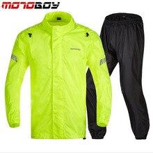 Motoboy 오토바이 방수 방수 비옷 야외 무거운 물 비가 기어 반사 rainsuits 등산 하이킹 비 재킷