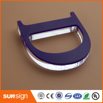 Customized laser cutting acrylic letters indoor signage for commercial logo