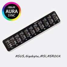 Цветная (RGB) концентратор материнская плата синхронизации ауры 12 V заголовок 4-контактный интерфейс RGB 1-10 пульт для вентилятора затемнения подставка для концентратора ASUS, MSI, Gigabyte, ASROCK