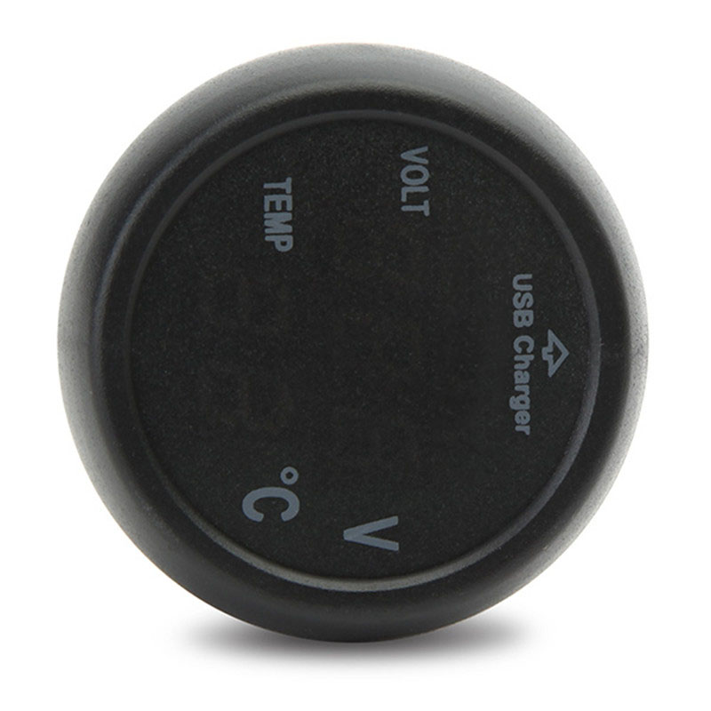 3 en 1 Numérique De Voiture Volt Voltmètre Thermomètre Auto Voiture USB Chargeur DC 8-40 V Température Mètre Voltmètre Cigarette Briquet
