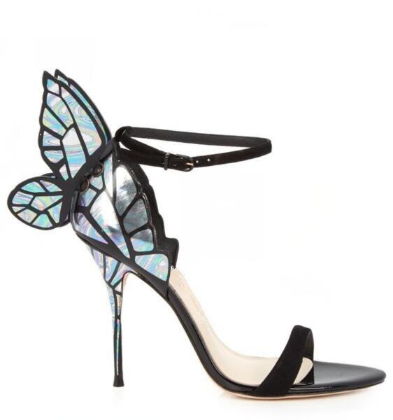 Picture Cuir Wing Mode Talons Cheville Lanières Taille Sandales Hauts As En Sexy Dames Retour 41 Noir Boucle Papillon Womne Picture as Laser Élégantes Daim 0rIqIx1wP