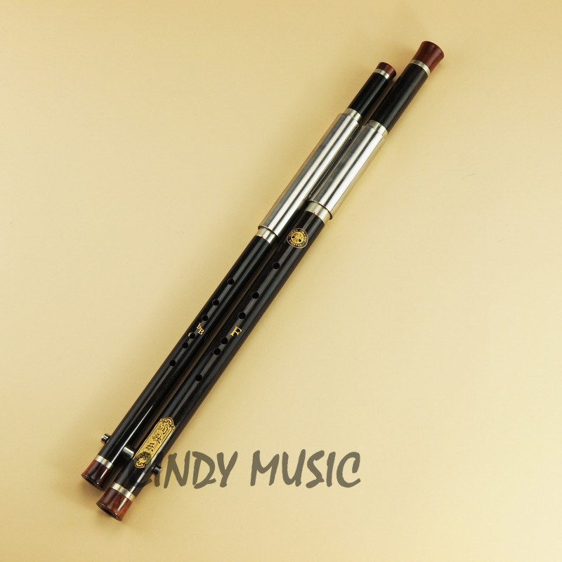 China Transverse Flute Ba Wu Copper Reed Musical Flute D DOLITY Professional Traditional Woodwind Flute Instrument Double Pipe Bamboo BaWu Key C G