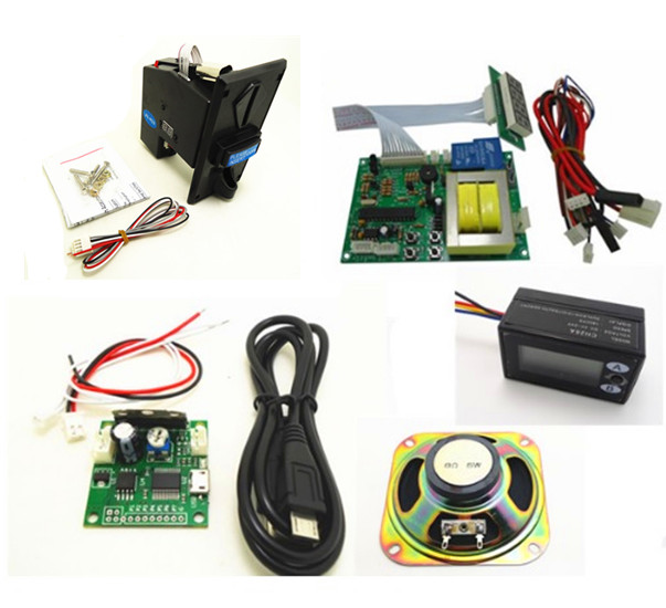 with your own warning sound 220V input and output multi coin operated Time Control Timer Board Power Supply with counter