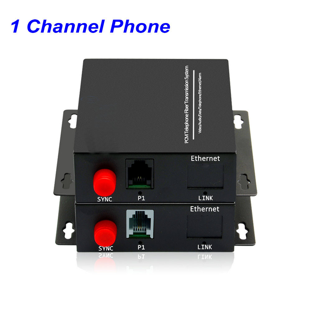 1/2/4/8/16/32 Channel Telephone Converters - PCM Voice Tel Over Fiber Optic Multiplexer,Support Caller ID And Fax Function