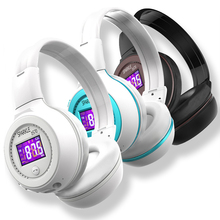 Sparkle HiFi Stereo FM Radio Bluetooth Headphone Wireless Micro SD Card Call Headset Long Time Music Player With Microphone