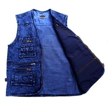 Men's vest Outerwear denim waistco...