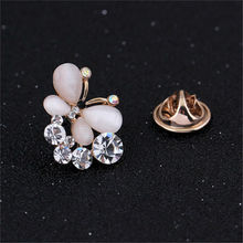 Fashion Rhinestone Brooches Butterfly Brooch Pins Gold Plated Lapel Pins Small Brooch collar tips Wedding Dress Jewelry DR038